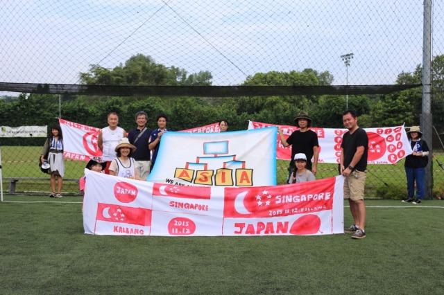 集合写真日本人サッカー大会